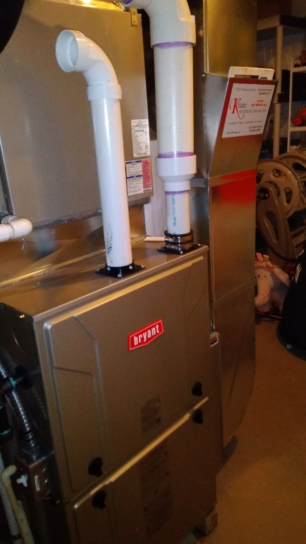Installed a hundred thousand BTU Bryant furnace