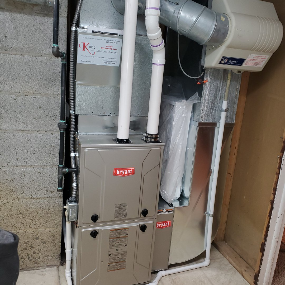 Clarkston, MI - Installed 96% efficient Bryant furnace