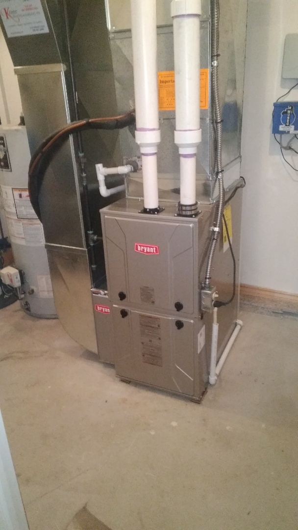 Commerce Charter Township, MI - Installed an 80000 BTU Bryant furnace