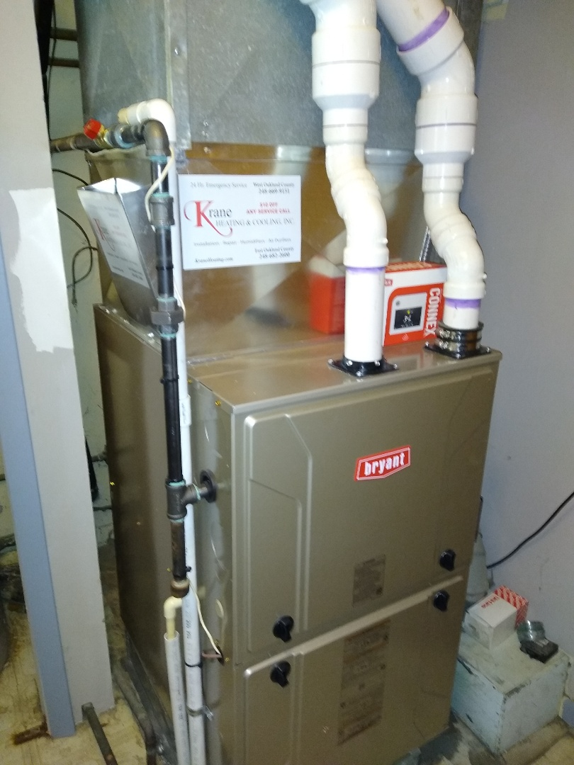 Clarkston, MI - Installed a Bryant 97% efficient furnace