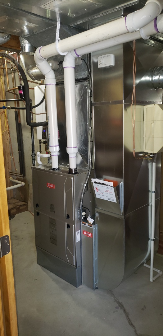 Clarkston, MI - Just finished a Bryant 96% efficient furnace replacement