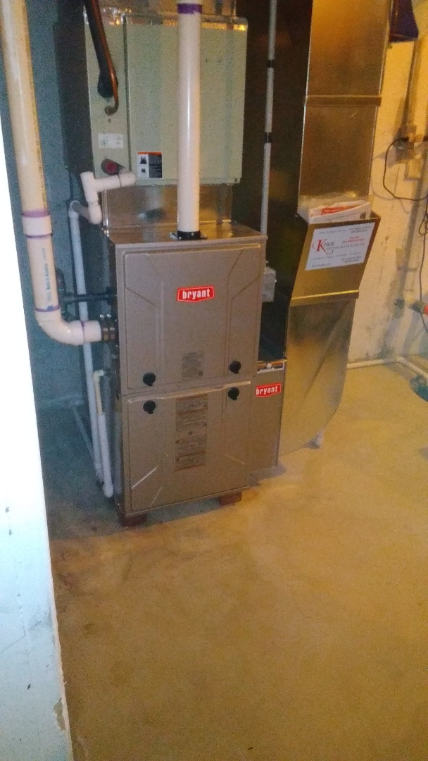 West Bloomfield Township, MI - Installed an 80000 BTU Bryant furnace 96% efficient