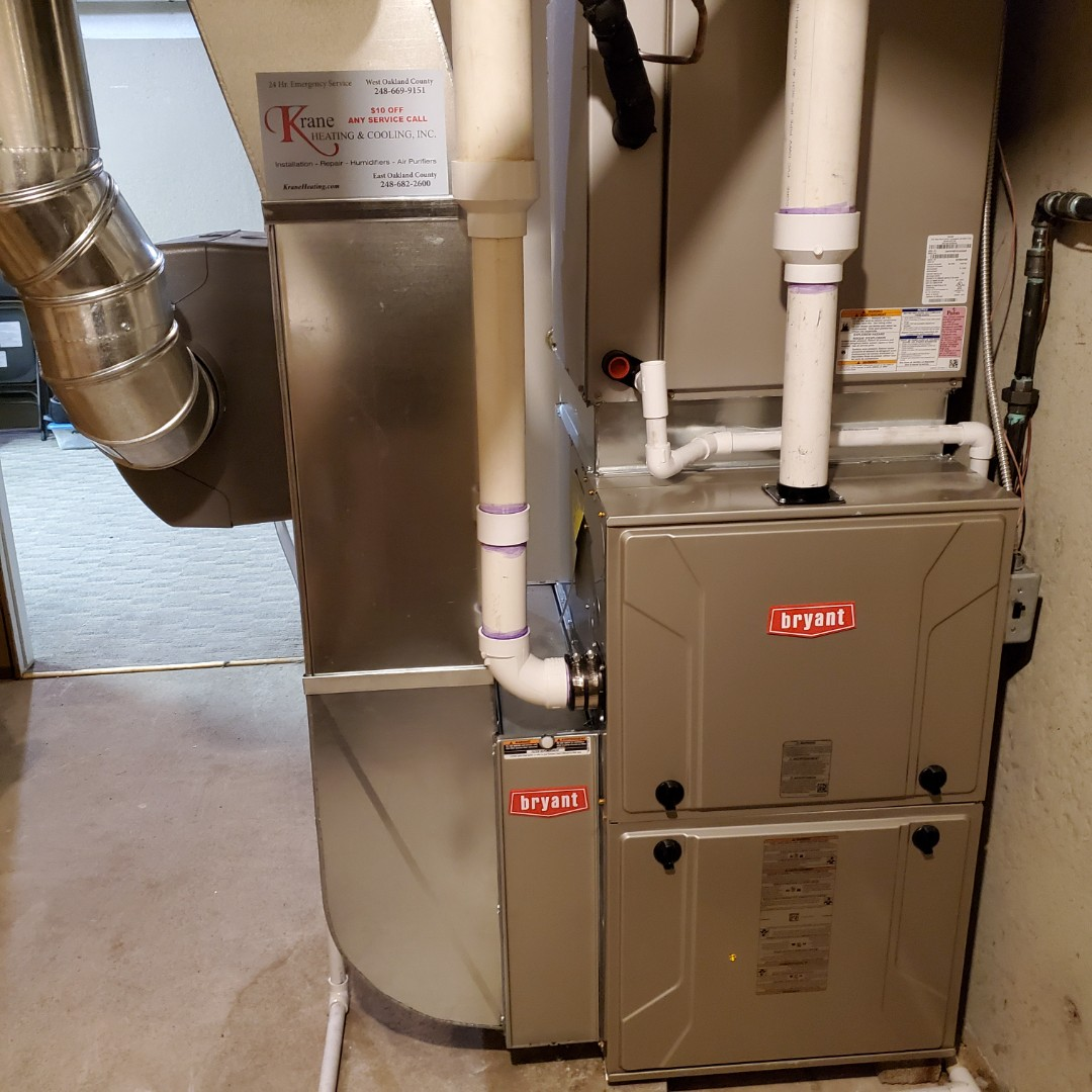 Waterford Township, MI - Installed a 96 for 6 efficient Bryant Furnace