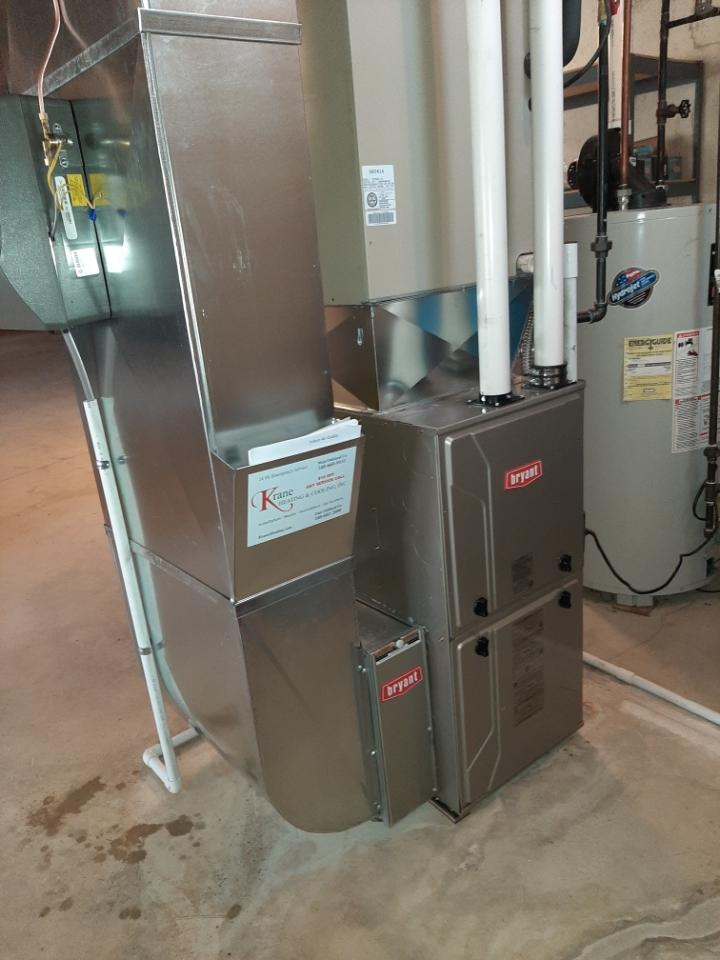 Commerce Charter Township, MI - Installed an 80000 BTU Bryant furnace 96% efficient