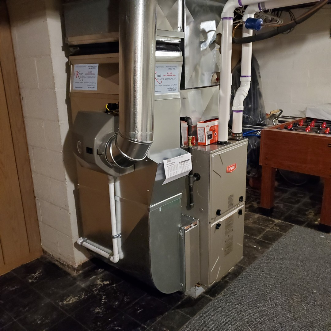 Waterford Township, MI - Install a 96% efficient Bryant evolution furnace