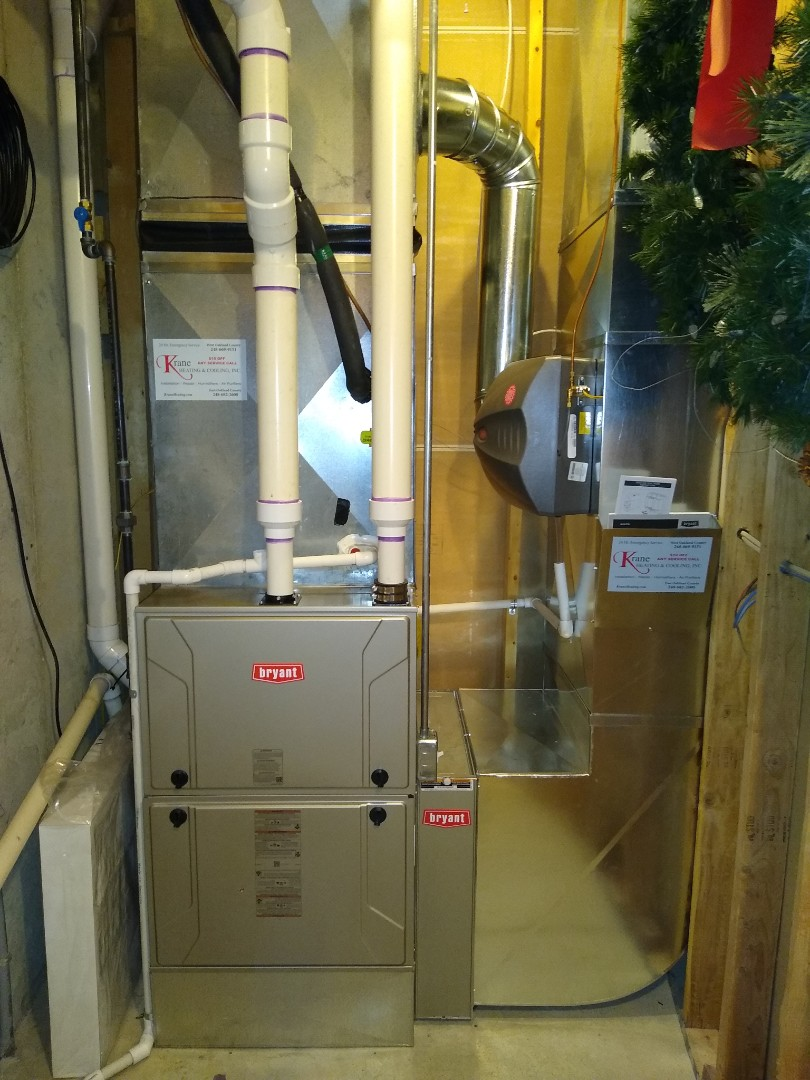 Waterford Township, MI - Installed a Bryant 96% efficient furnace