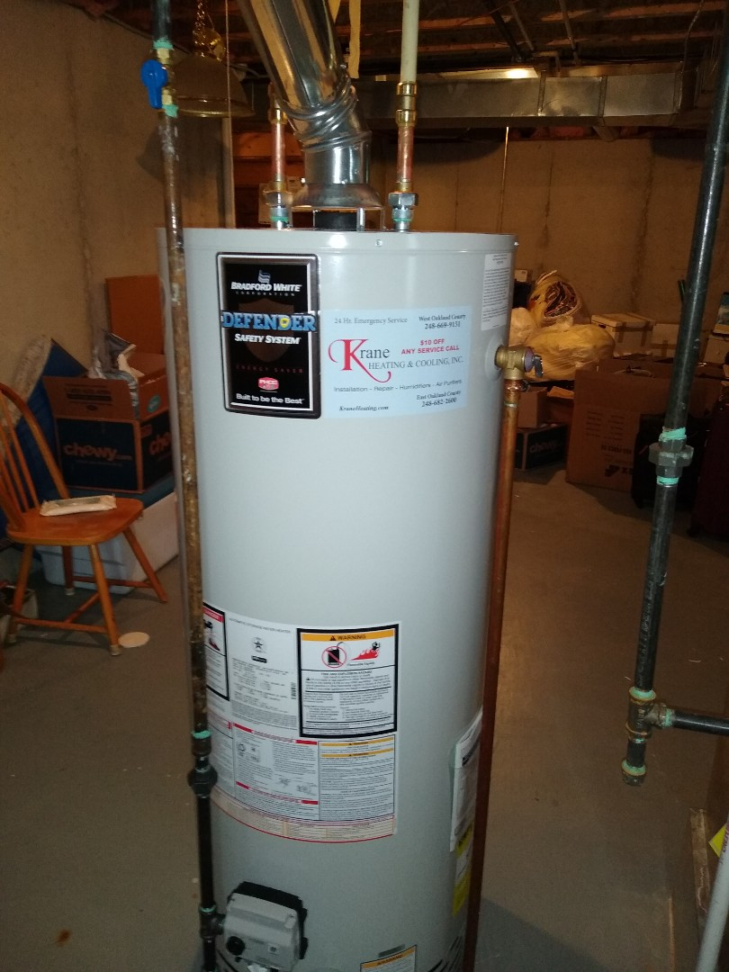 Keego Harbor, MI - Installed a Bradford White 50 gallon capacity water heater