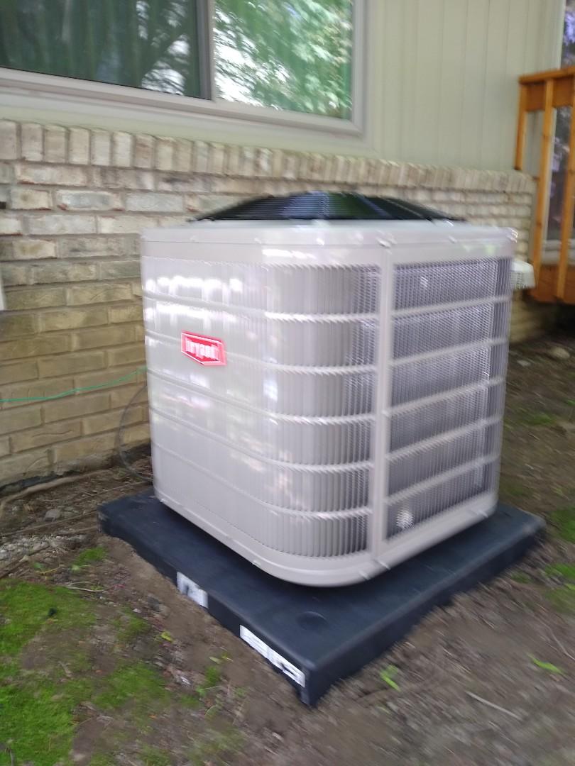 Farmington Hills, MI - Installed a Bryant air conditioning system