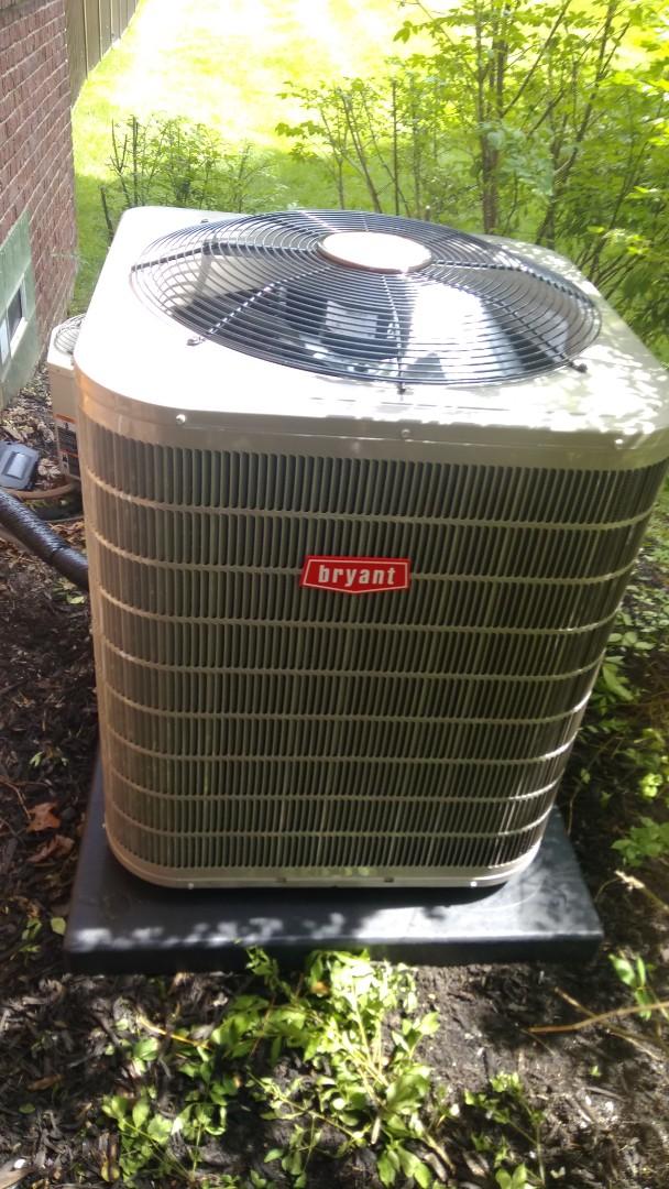 Clarkston, MI - Installed a 4-ton Bryant air conditioner 13 seer