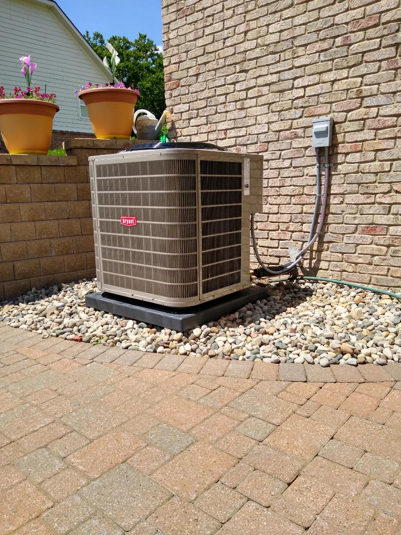 Installed a Bryant air conditioning system