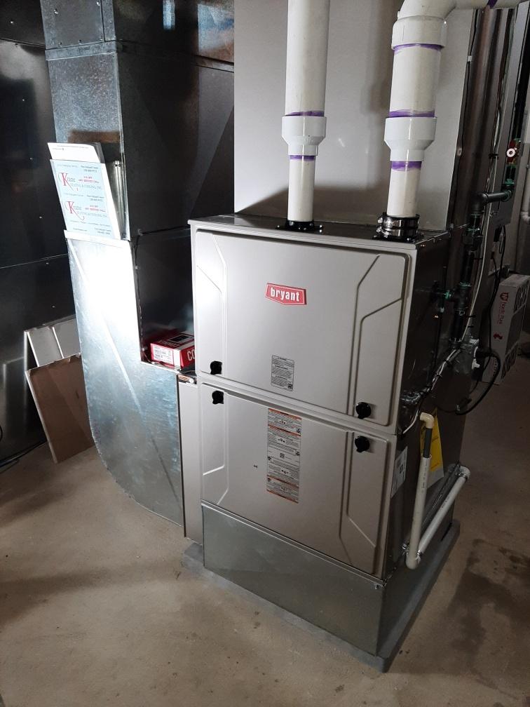 Clarkston, MI - Installed 120000 BTU Bryant Evolution furnace