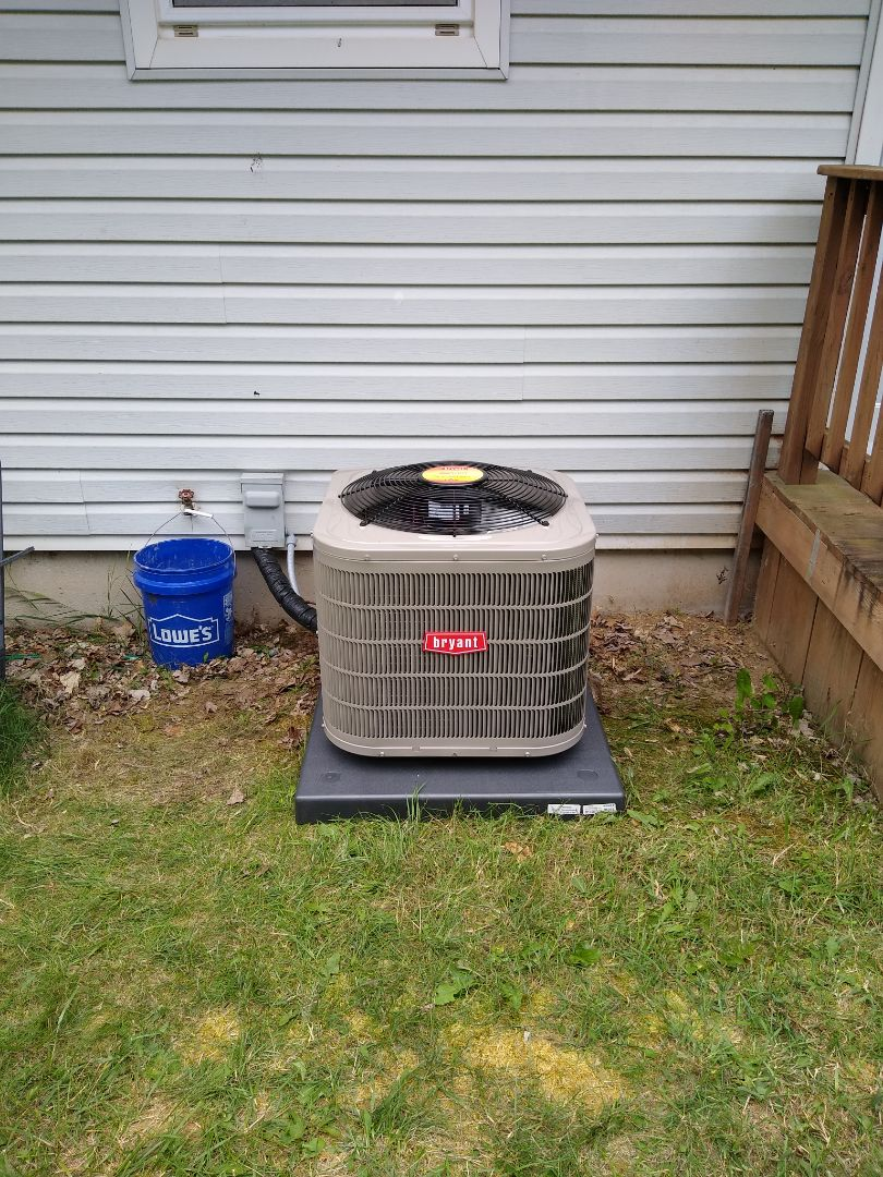 Clarkston, MI - Installed a Bryant air conditioning system