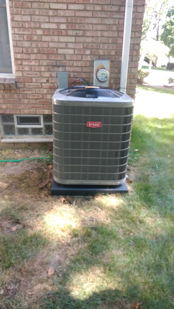 Installed a 4-ton Bryant high efficient air conditioner