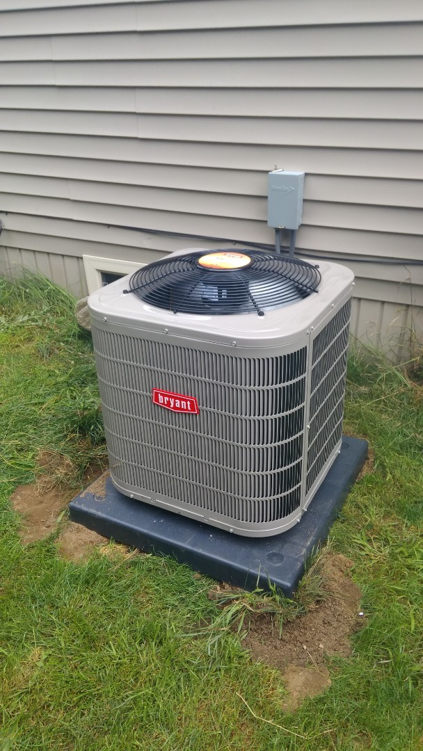 Waterford Township, MI - Installed a two and a half ton Bryant air conditioner