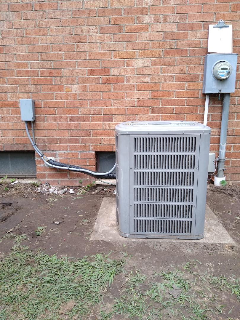 Orion charter Township, MI - Relocated an AC condenser