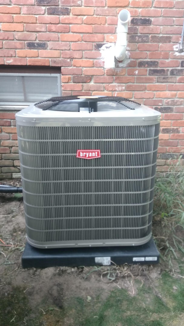 Installed a 5-ton Bryant high efficient air conditioner