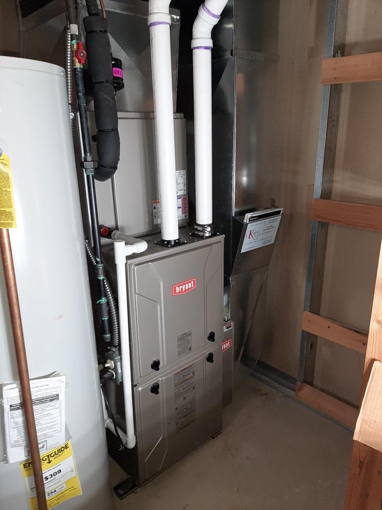 Clarkston, MI - Installed a 60000 BTU Bryant high efficient furnace