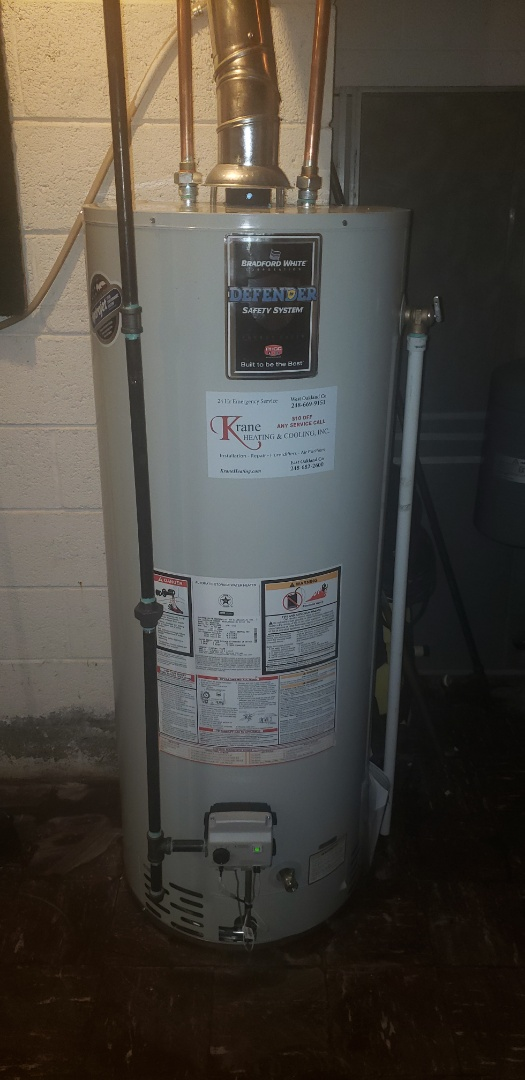 Replaced 50 gal water heater