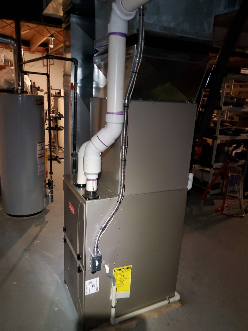 Install day Bryant 96% Evolution furnace