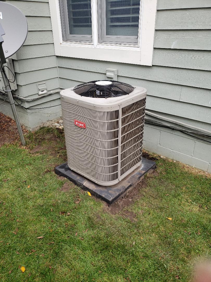 Moved a Bryant air conditioner
