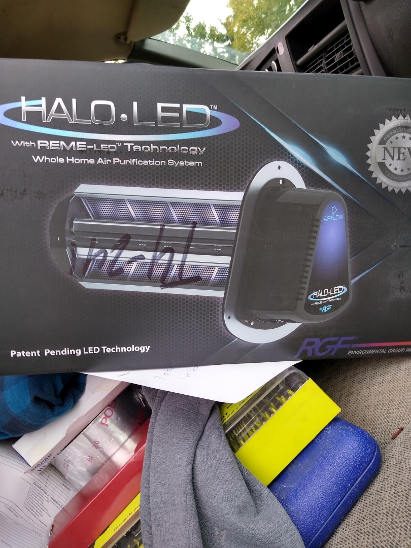Waterford Township, MI - Installed a Halo LED air purifier