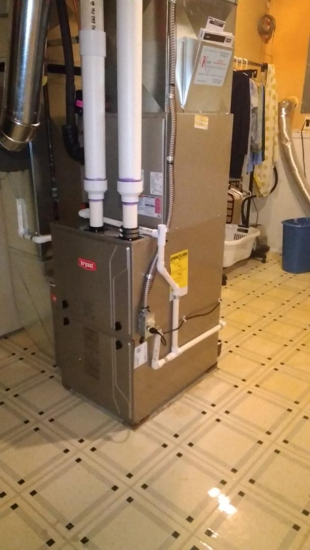 Orion charter Township, MI - Installed a hundred thousand BTU Bryant high efficient furnace