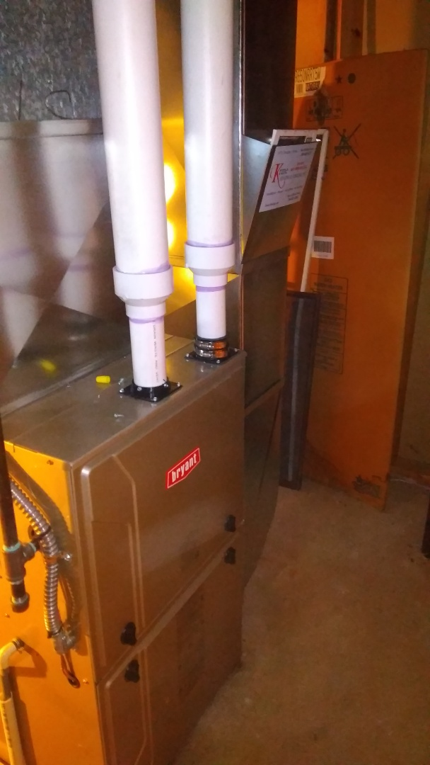 West Bloomfield Township, MI - Installed a hundred thousand BTU Bryant high efficient furnace