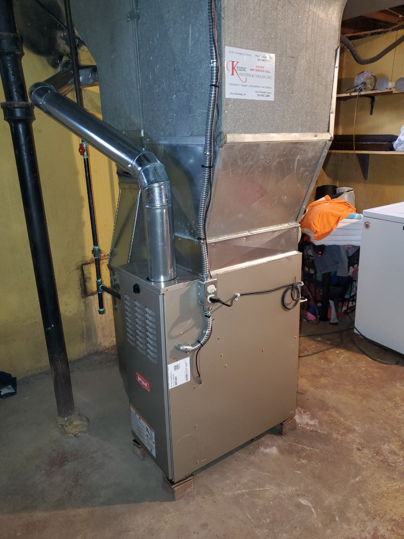 Install a 80% efficient Bryant furnace