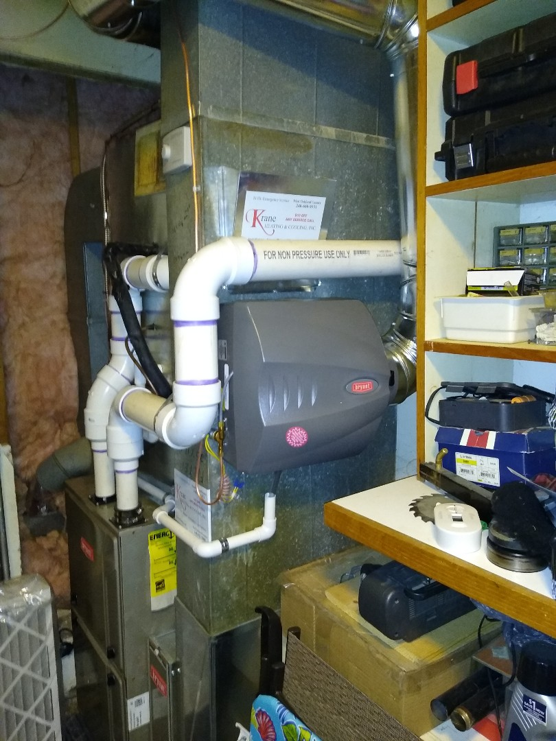 Installed a Bryant bypass humidifier