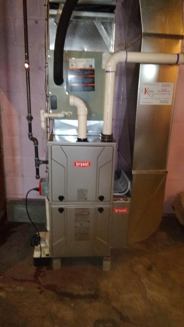 Pontiac, MI - Installed an 80000 BTU Bryant High efficient furnace