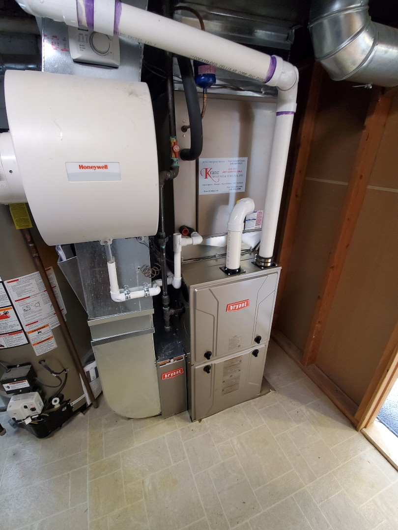 Install a Bryant 96% efficient furnace
