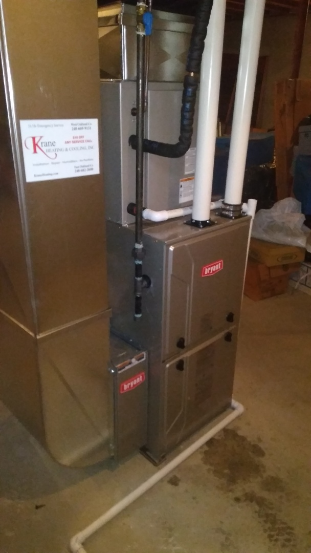 Holly, MI - Installed an 80000 BTU High efficient Bryant furnace