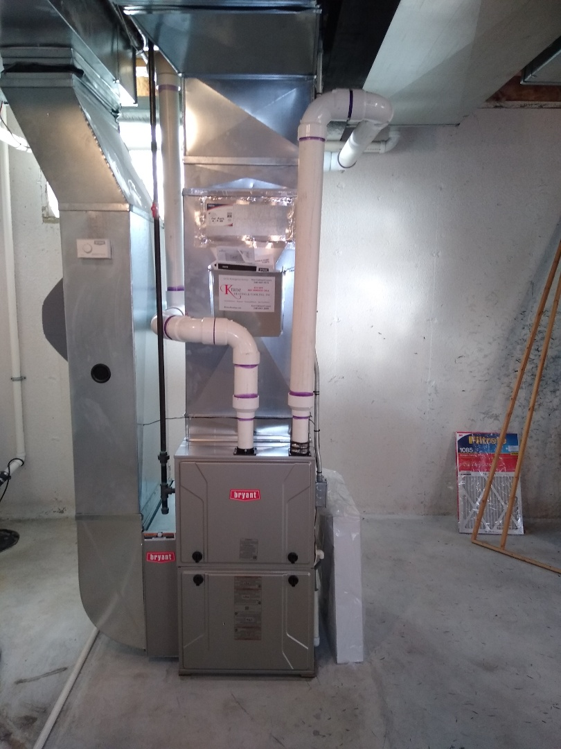 Walled Lake, MI - Installed a Bryant 96% efficient furnace