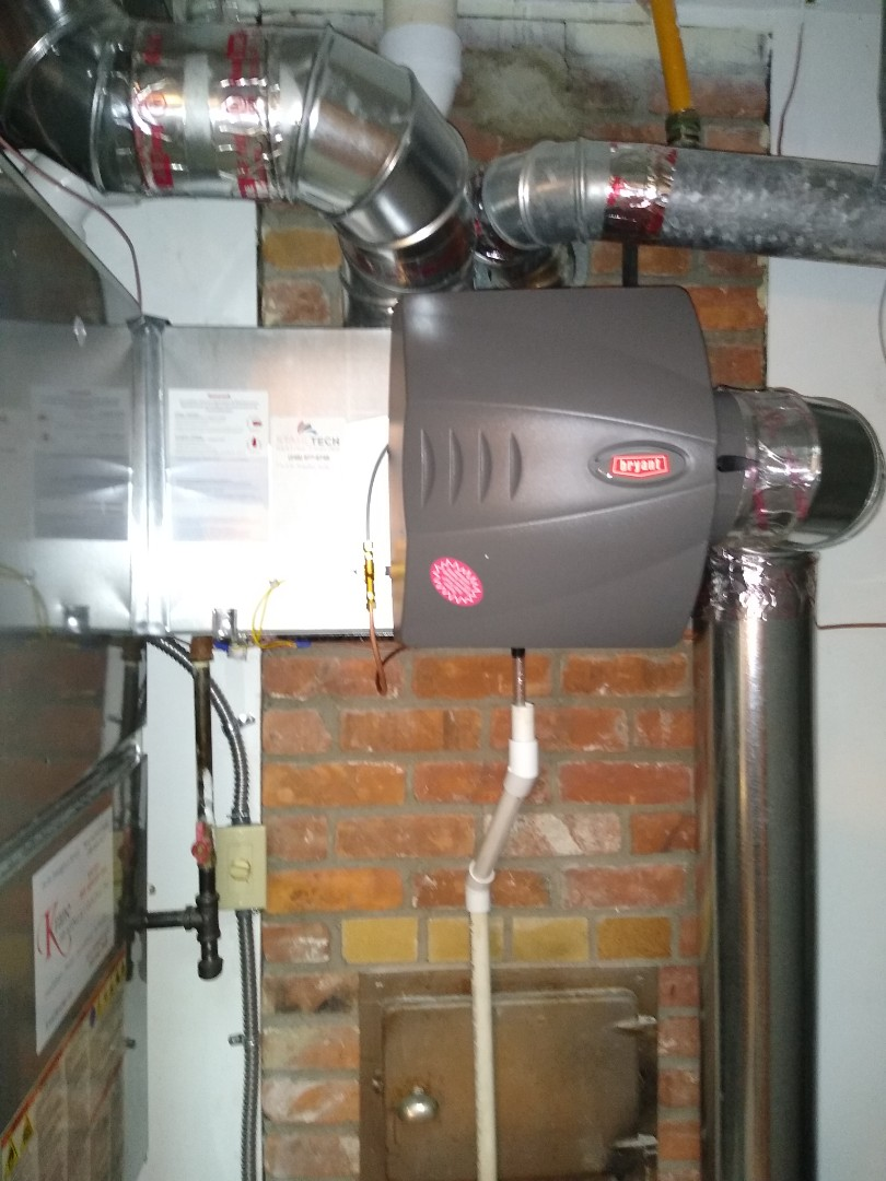 Bloomfield Hills, MI - Installed a large Bryant bypass humidifier