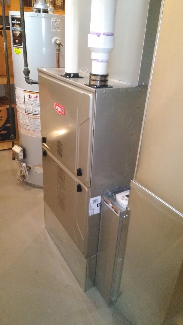 Clarkston, MI - Installed 120000 BTU Evolution Bryant high efficient furnace