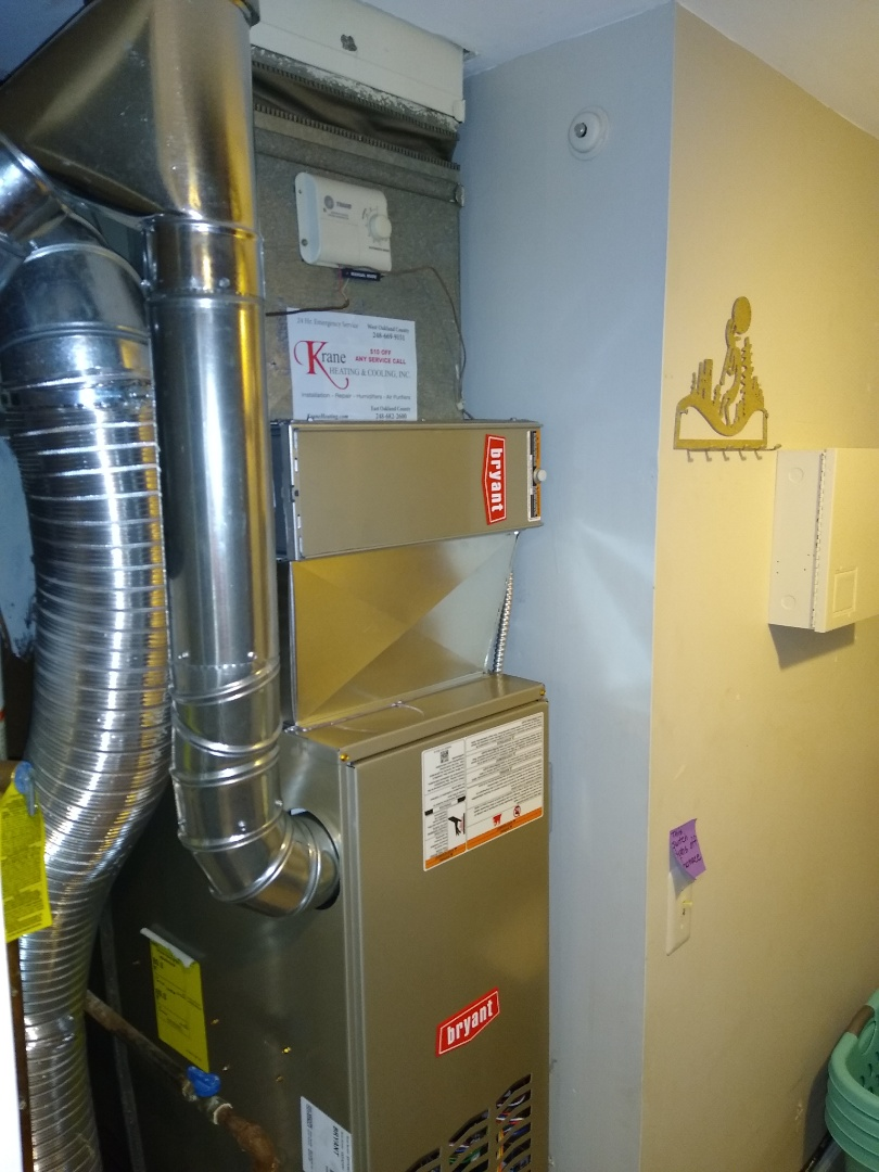 Installed a Bryant 80% efficient furnace