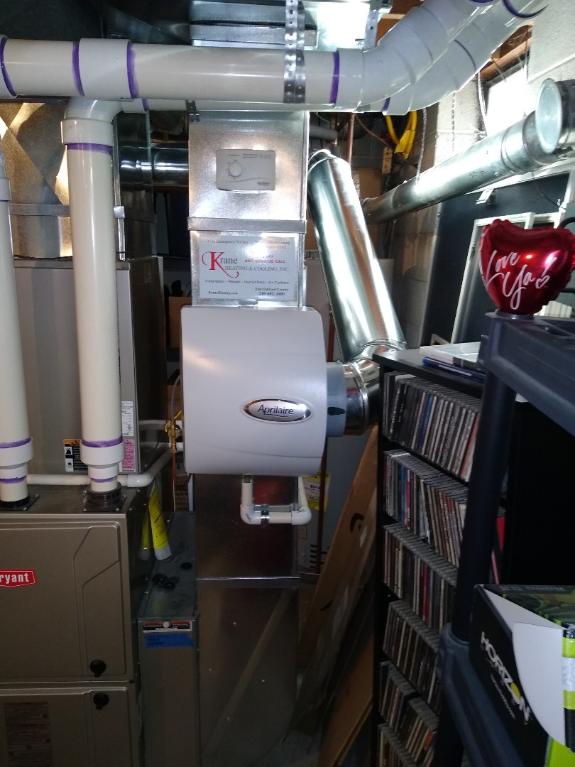 Installed an aprilaire bypass humidifier
