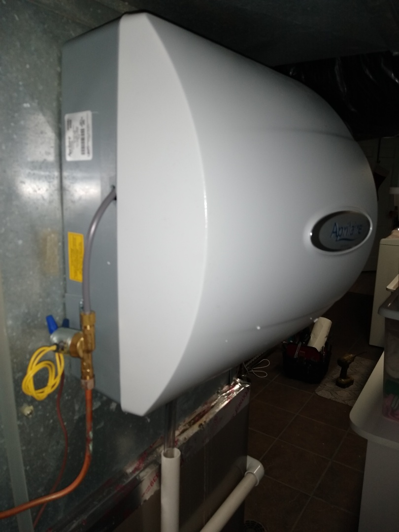 Installed in April aire bypass humidifier