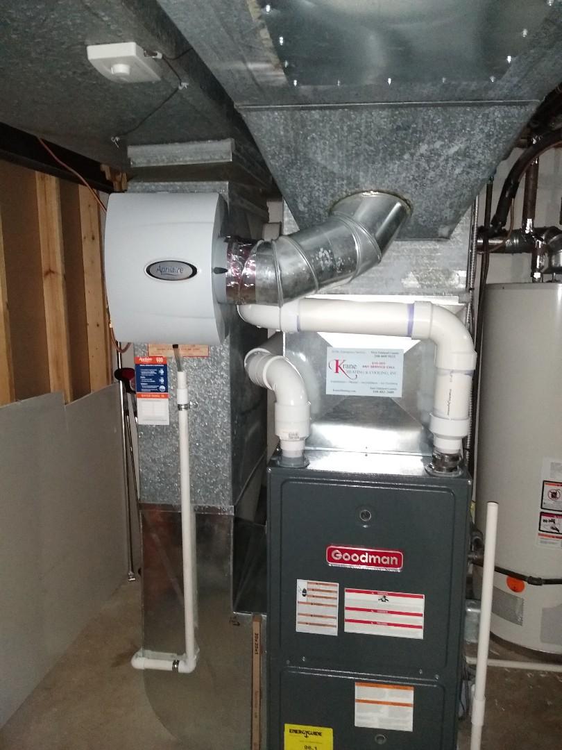 Bloomfield Hills, MI - Installed an April air bypass humidifier