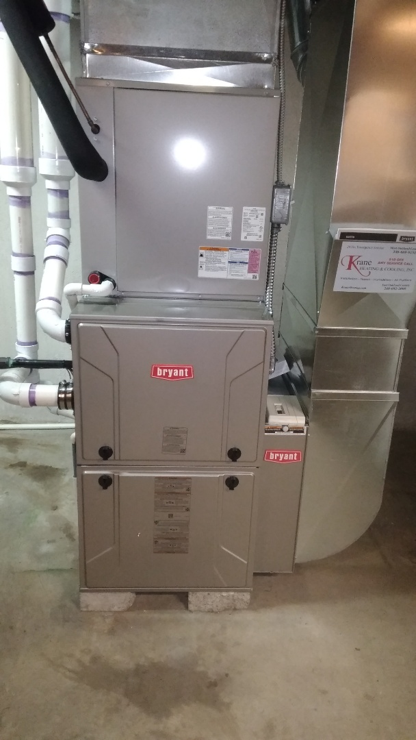 Holly, MI - Installed a hundred thousand BTU Bryant high efficient furnace