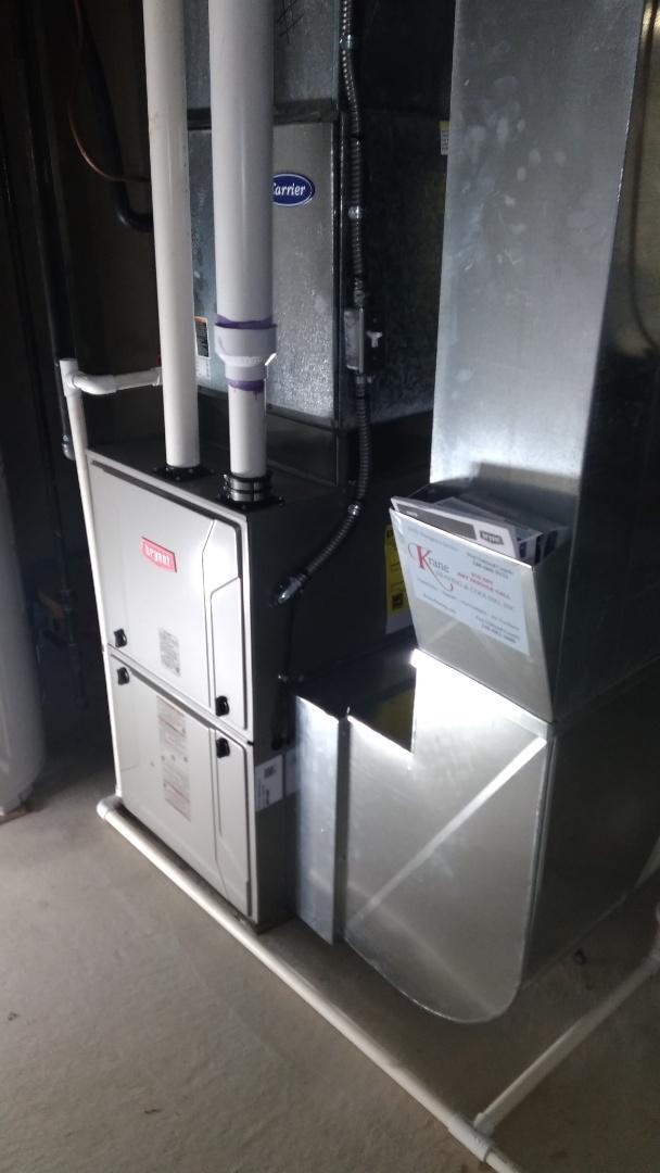Installed a hundred thousand BTU Bryant high efficient furnace