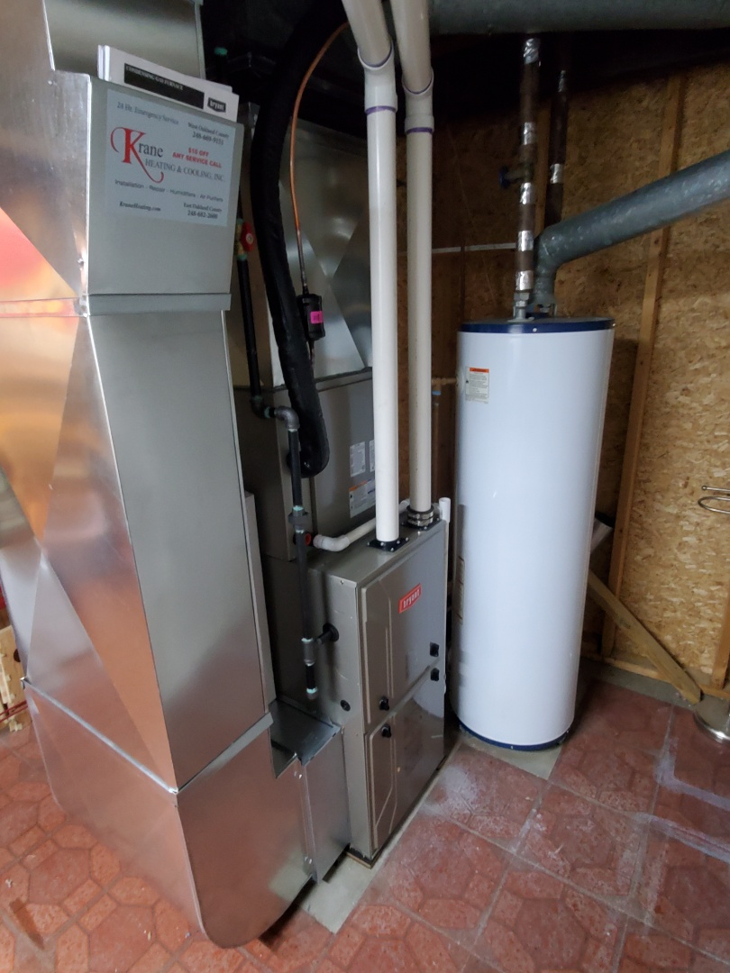 White Lake charter Township, MI - Install a 96% efficient Bryant furnace and air conditioner