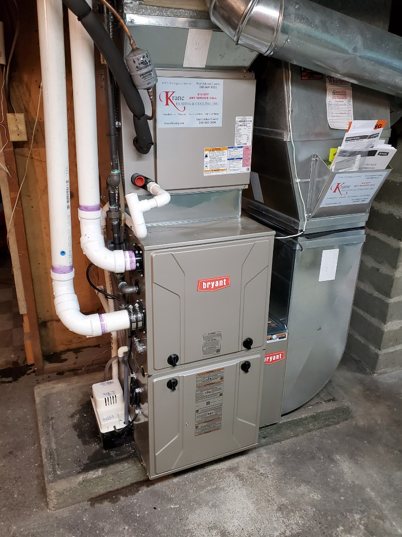 Install a 96% efficient Bryant furnace