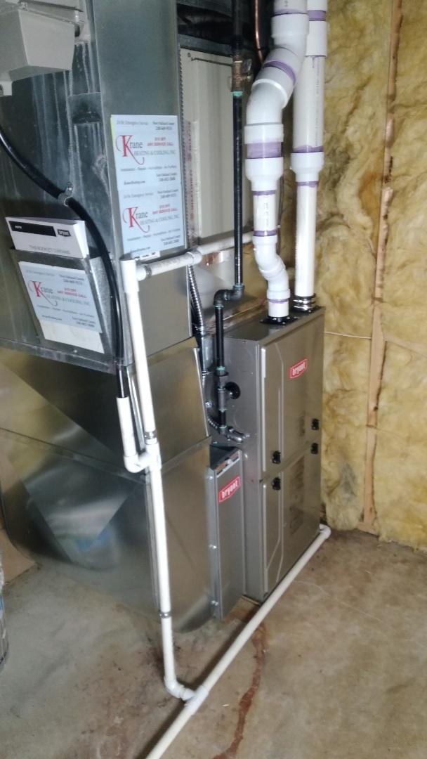 West Bloomfield Township, MI - Installed an 80000 BTU Bryant high efficient furnace