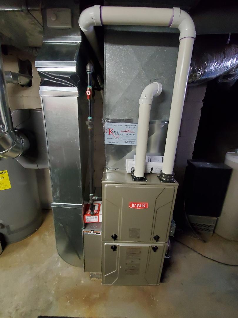 White Lake charter Township, MI - Install a Bryant Evolution furnace