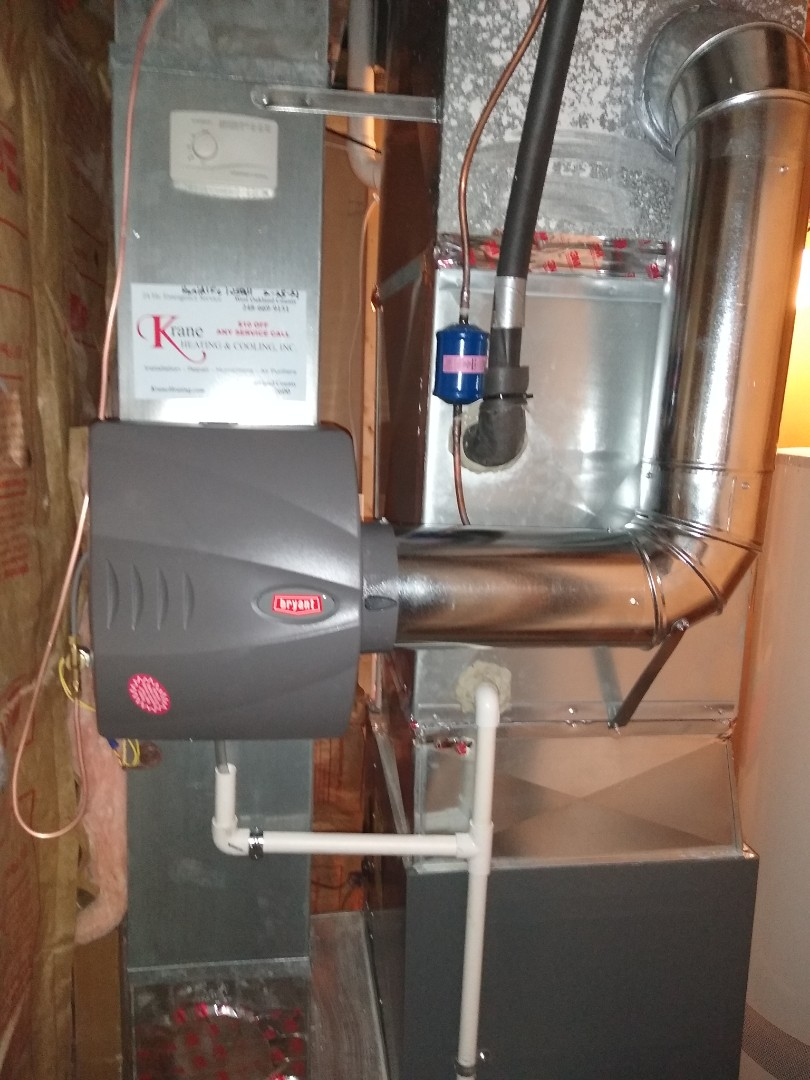 Commerce Charter Township, MI - Installed a Bryant bypass humidifier