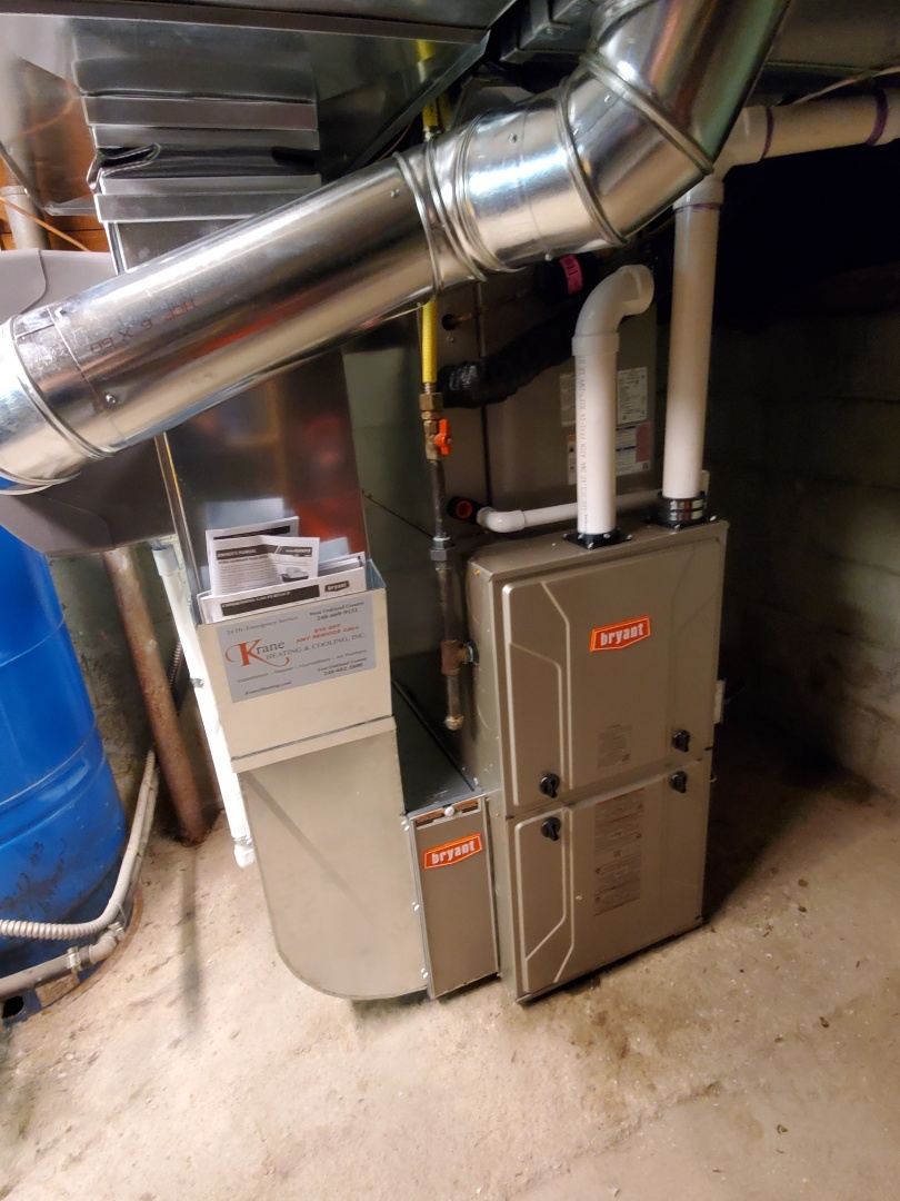 Commerce Charter Township, MI - Install a 96% efficient Bryant furnace