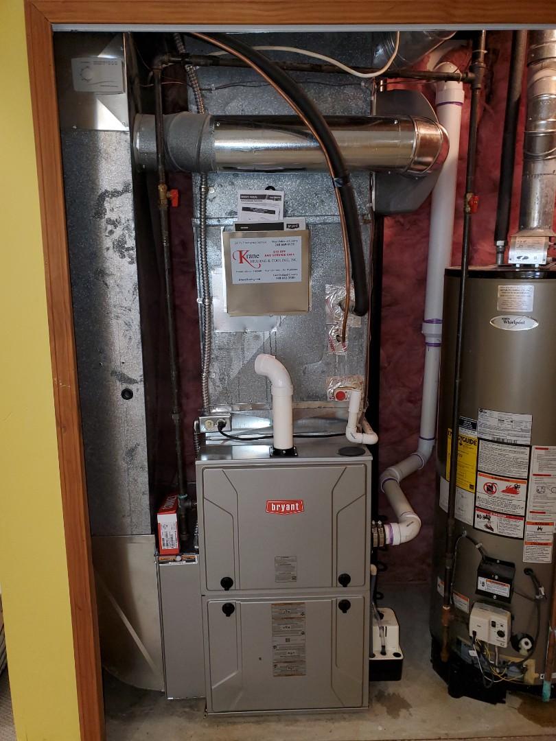 Clarkston, MI - Install a Bryant 96% efficient furnace