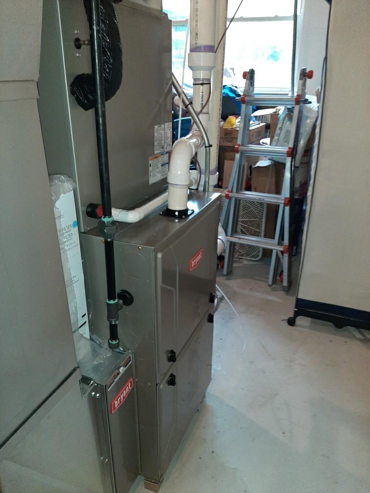 Holly, MI - Installed a hundred thousand BTU Bryant high efficient furnace