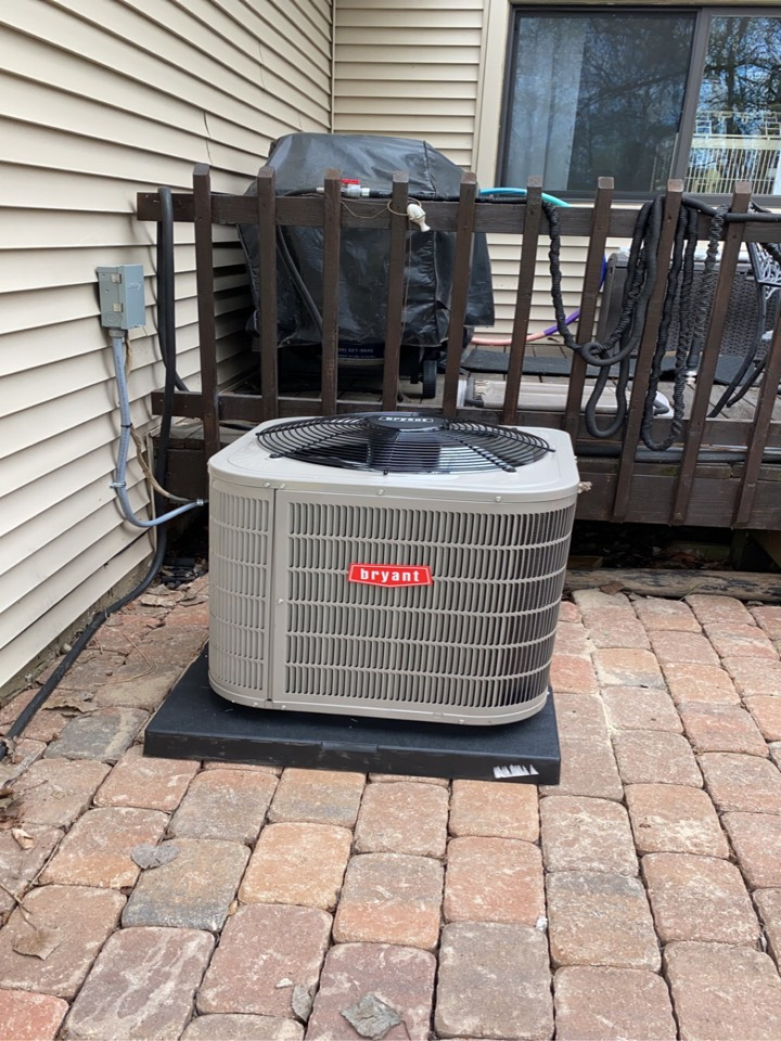 Installed a 2.5 ton Bryant air conditioner